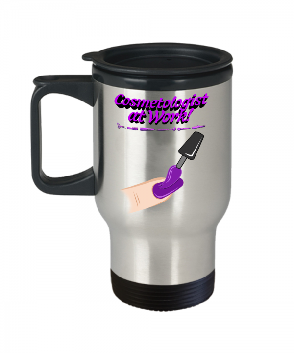 Cosmetologist at Work – Travel Mug