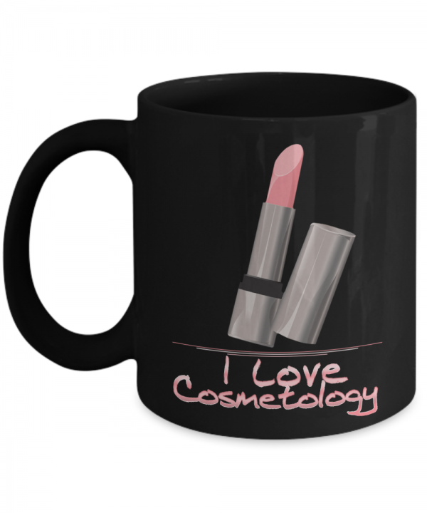 I Love Cosmetology - 11oz Black Ceramic Coffee Mug